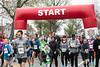 Runners begin the journey of the Papa John's 10-Miler on Saturday morning. 4/1/17