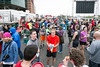 The parking lot at Papa John's Stadium was the site of this year's 10-Miler finish line as the UofL foootball facility remains under construction with another expansion. 4/1/17
