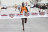 Louisvillian Ernest Kibet was the winner of the Papa John's 10-Miler on Saturday morning with an overall time of 00:49:33.02 and an average pace of 4:58 a mile. 4/1/17