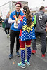Jordan and Jenny Smith took the superhero approach to their outfits for the Papa John's 10-Miler. 4/1/17