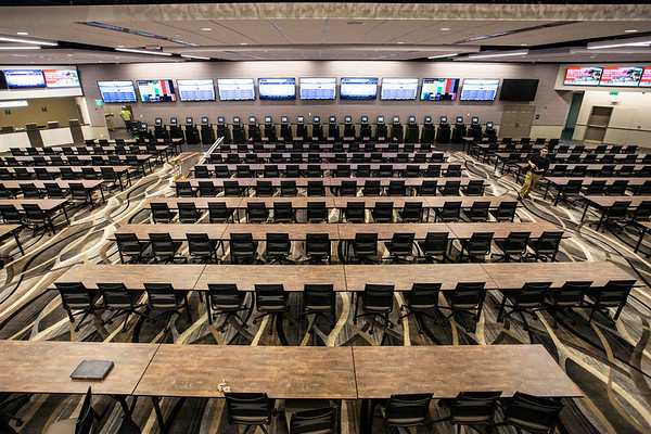 The Aristides Lounge at Churchill Downs is a new space that boasts seating for 300 guests along with a full service bar and 27 flat screens. 4/4/17