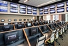 The Vegas-style Gold Room at Churchill Downs features 49 flat screen TVs, 48 carrel seats, 28 table seats, and 13 countertop seats all equipped with new Bet Pro betting machines. 4/4/17