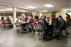 Participants in the Warrior's Heart program enjoy a community meal on the closing night of the 8-week healing course. 3/9/17