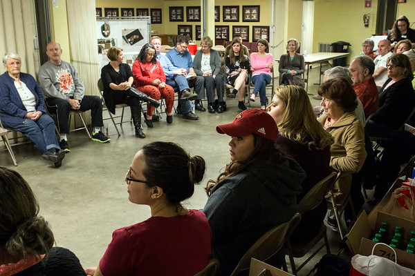 Veterans are joined by family and friends during a Warrior's Heart program at United Church of Christ in March. 3/9/17
