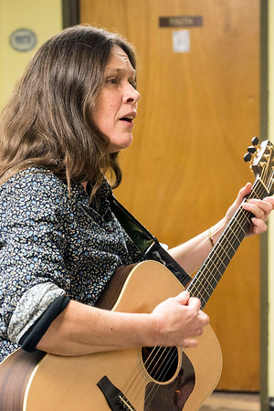 Kristen Hughes incorporates music as part of the healing process in the Warrior's Heart program. 3/9/17
