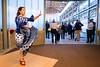 Flamenco Louisville dancer Diana Dinicola entertains in the lobby of the African American Heritage Center as guests arrive for a Monday morning event outlining the Imagine Greater Louisville 2020 initiative. 4/10/17