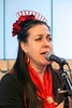 Flamenco Louisville singer Suzanne Allen sings to the guests in attendance at the Imagine Greater Louisville 2020 event on Monday. 4/10/17