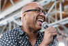 Mauriece Hamilton belts out a tune as part of the live entertainment Monday morning at the Imagine Greater Louisville 2020 launch party. 4/10/17
