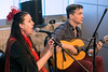 Suzanne Allen and Paul T. Carney of Flamenco Louisville provide music in the lobby of the African American Heritage Center during the Imagine Greater Louisville 2020 event on Monday. 4/10/17
