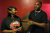 La'Tashia Majors and Terrance Taylor, Sr beam with pride as they tell stories of their son Taywan Taylor's rise from PRP High to the upcoming NFL draft. 4/11/17