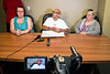 Chris 2X is joined by Delanea Cobb and Rae Saunders during a Sunday press conference to address the need for a victims network in helping family and friends cope with the aftermath of homicides. 4/16/17