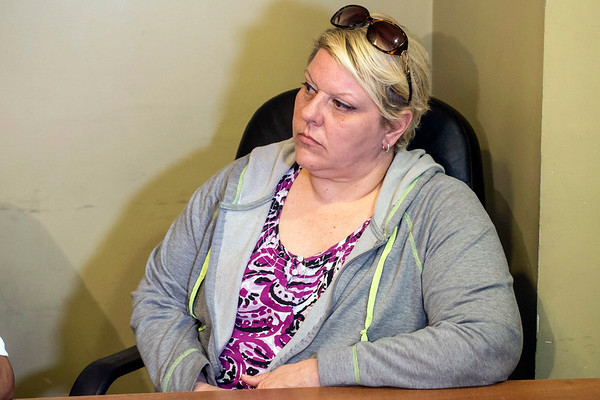 Rae Saunders, the mother of recent homicide victim Delivia Carron, sits in on a Sunday press conference addressing issues surrounding her daughter's murder. 4/16/17