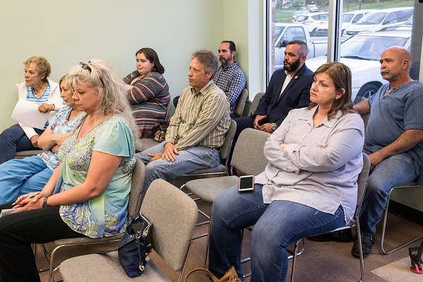 Concerned citizens of Rolling Hills gathered for the city's Tuesday night board meeting to express concerns about the employment of Kenny Betts as a code enforcement officer. Betts is a former member of LMPD and under investigation for charges relating to the Youth Explorer sex abuse scandal. 4/18/17