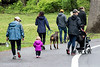 People of all ages, along with a few dogs, set off on the 5k course through Iroquois Park as part of the Louisville Earth Walk on Saturday. 4/22/17