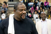 Former undisputed world heavyweight champion Riddick Bowe visited Central High School on Wednesday morning as part of a tour of local Muhammad Ali landmarks. 5/3/17