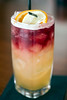 The Sicilian Sour was created at Mercato Italiano as a cocktail or float comprised of Old Forrester Bourbon, lemon juice, Amaretto, and Stemmari pinot noir. 5/23/17