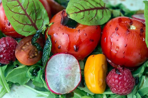 The Stracciatella Insalata at Mercato Italiano Trattoria & Market in Norton Commons is a salad that features seasonal tomatoes, seasonal fruit, fig vincotto, basil frite and sorrel. 5/23/17