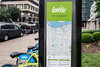 City maps with the locations of all 28 docking stations in the LouVelo Bikeshare program allow users to plot a course. 5/24/17