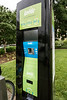An information kiosk directs users through the process of renting cycles in the LouVelo Bikeshare program. 5/24/17