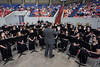 The Bullitt East High School Concert Band readies itself for a Saturday morning graduation ceremony in Broadbent Arena. 5/27/17