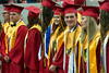 The decorated and accomplished students of the 2017 class at Bullitt East High School line up for graduation on Saturday. 5/27/17