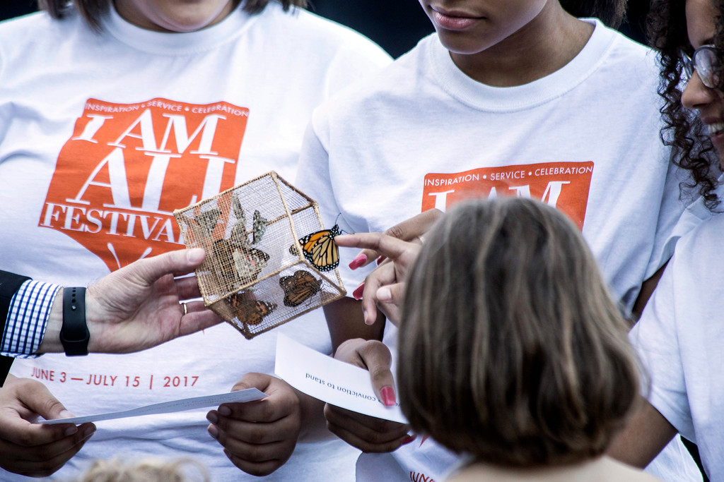 Butterflies were released with the help of children to start the annual I Am Ali Festival on Saturday morning. 6/3/17
