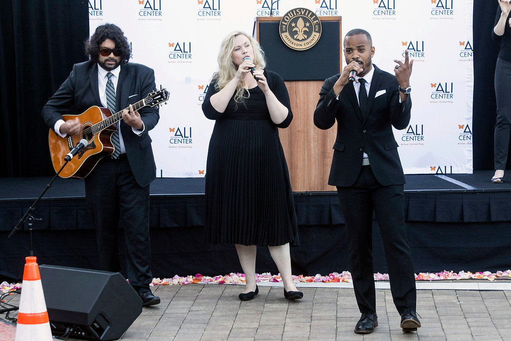 "Louisville ""southern-soul"" band Jenna Dean performed during the launch of the annual I Am Ali Festival at the Ali Center on Saturday. 6/3/17"