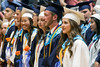 Members of the academic elite at Silver Creek High School wait in the front row for diplomas on Sunday. 6/4/17