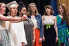 Members of the Silver Creek High School choir perform the National Anthem before graduation on Sunday. 6/4/17
