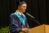 """Silver Creek High School class vice president Alec Olinger delivers his """"History"""" speech during graduation on Sunday. 6/4/17"""