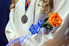 Roses with the Silver Creek High School official colors were given to the female graduates. 6/4/17