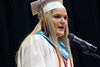 """Silver Creek High School class president Keslyn Howard delivers a speech entitled """"Our Home"""" during graduation. 6/4/17"""