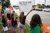 A few dozen students joined in on the Tuesday protest to show support for their recently fired Norton Elementary principal Ken Stites. 6/13/17