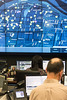 A map of Louisville is broadcast large over several monitors to assist in the daily operations at the LMPD Real Time Crime Center. 6/14/17