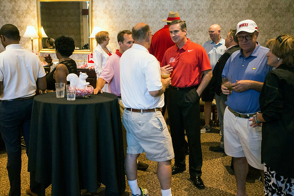 WKU basketball head coach Rick Stansbury spoke to alumni during a university event held at the Hunting Creek Country Club in Prospect on Monday afternoon. 6/19/17