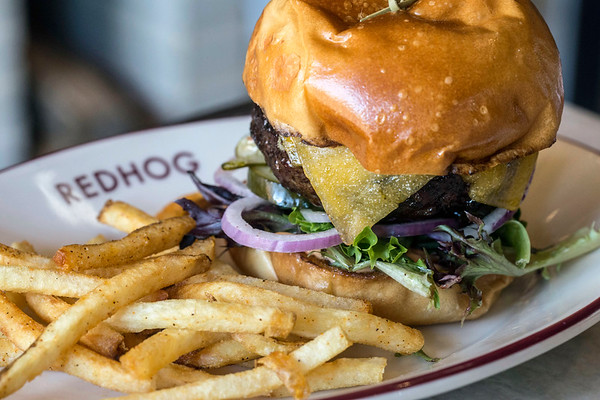 The Le Big Snack burger at Red Hog is topped with tillamook cheddar. 6/20/17