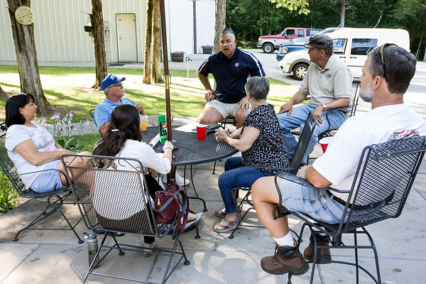 Members of a group called Friends of Cedar Grove meet on a Tuesday evening to discuss the issue of a planned pipeline that will divide historic properties and potentially impact local wildlife. 6/20/17