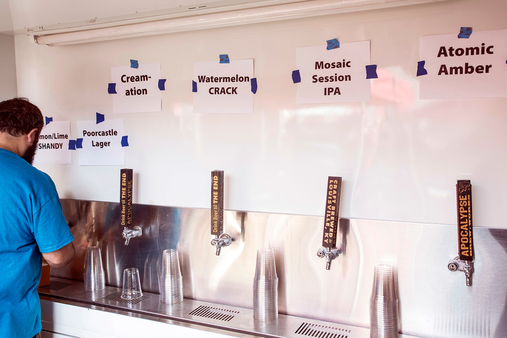 A variety of fresh brews with clever names were on tap during Poorcastle Festival at Apocalypse Brew Works. 7/8/17