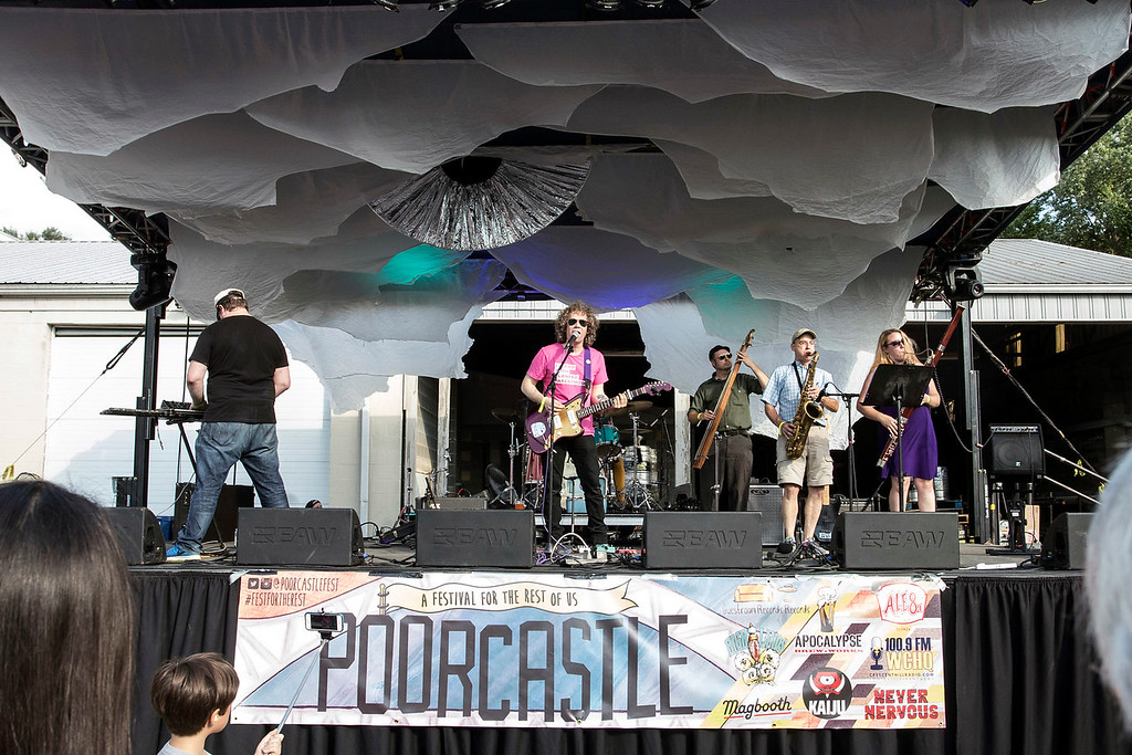 The band Cat Casual & Holy Bones performs an afternoon set during day two of Poorcastle Festival. 7/8/17