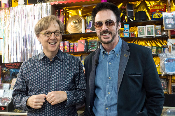 Magicians Mac King and Lance Burton returned to one of the places that helped launch their careers on Wednesday as the pair visited Caufield's Novelty on Main Street. 7/12/17