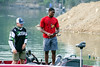 UofL football player Russ Yeast was one of nine Cards to go fishing with military veterans in Mystery Lake on Saturday morning. 7/22/17