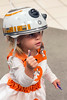 2-year-old Jenna Whitaker came dressed as BB-8 from Star Wars during FandomFest on Saturday. 7/29/17