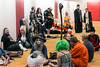 Costumed fans await another Q&A session to begin at FandomFest on Saturday. 7/29/17