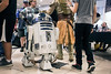 R2-D2 rolls through the busy crowd at FandomFest on Saturday as the popular annual event was staged in the empty Macy's at Jefferson Mall this year. 7/29/17