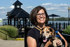 For Denise Greer, happiness is a walk along the scenic Jeffersonville waterfront with her dog Kunu by her side. 8/24/17