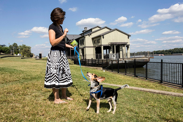 With a sense of community at every turn and a riverfront to promote connecting with her fellow citizens, Jeffersonville has proven to be a good choice for Denise Greer and her dog Kunu. 8/24/17
