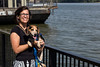 Denise Greer has plenty to smile about as her recent relocation from Louisville to Jeffersonville has proven to be the right move for her and pet Kunu. 8/24/17