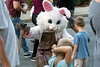 A slaughterhouse bunny complete with bloody axe drew the attention of children in attendance at the Louisville Zombie Walk on Saturday. 8/26/17