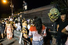 A bus full of frights served as a scaled down haunted house during the Louisville Zombie Walk. 8/26/17