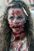 Elizabeth Putman was the subject of many photos due to her rich and gory detail at the Louisville Zombie Walk. 8/26/17